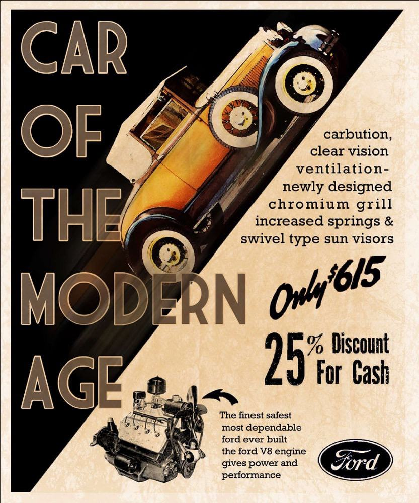 Antique Ford Car Ad